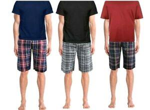 NEW Men's Shorts Set Cotton T-shirt top & Lounge Pyjamas BOTTOMS SUMMER WOVEN