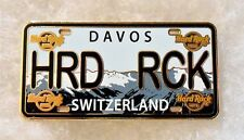 HARD ROCK HOTEL DAVOS SWITZERLAND LICENSE PLATE SERIES PIN # 97327