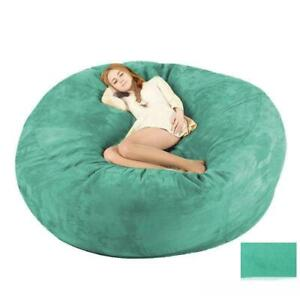 7ft Microsuede Lazy Sofa Oversized Giant Huge Bean Bag Memory Cover For Bedroom