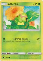 4X Caterpie (1/147) -Common Pokemon- SM Burning Shadows -NM-