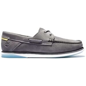 Timberland Atlantis Break Boat Shoe Medium Grey Nubuck Herren Leder Boot Schuhe