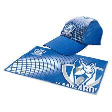 North Melbourne Kangaroos AFL Hat Cap & Microfibre Gym Towel Christmas Gift Pack