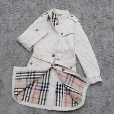 Women's Burberry London Trench Coat Ivori Quilted Size M-S