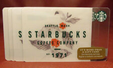 Lot of 6 Starbucks, 2017 SEATTLE WASH. EST. 1971 Gift Cards New with Tags