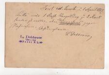 L Dobbrow Uhrmacher Forst i d Lausitz Germany 1887  097b