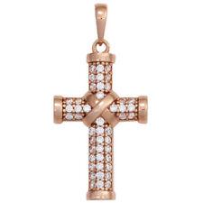 Natürliche Echtschmuck-Halsketten & -Anhänger aus Sterlingsilber Kreuz