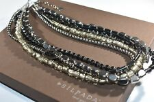 Glass Sterling Silver Necklace Silpada - N1936 - Hematite
