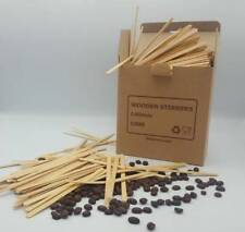 """Wooden Coffee Tea stirrers 5.5""""140mm For Paper Cups Hot Drinks Sticks Cup Sticks"""