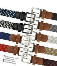 7001G Men's Stretch Belt Braided Elastic Casual Woven Canvas Fabric Belt 1-3/8""