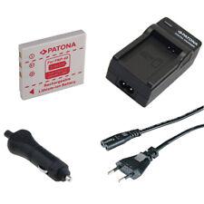 Batteria Patona + caricabatteria casa/auto per Fuji FinePix V10 Zoom,Z1