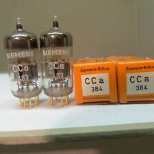 matched pair Siemens CCA E88CC silver shield A6 Codes NOS Röhre Tube ROE-test 06