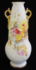 Lovely Large Hand Painted Multicolor Roses Vase Franz Anton Mehlem Royal Bonn