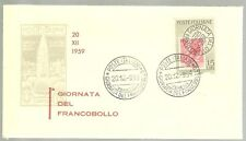 ITALIA BUSTA PRIMO GIORNO 1959 G.  FRANCOBOLLO ANNULLO SPECIALE VENEZIA     FDC