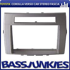 DFP-11-11/S Toyota Corolla Verso 2004-09 Car Radio Double Din Facia Panel SILVER