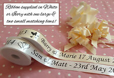 ** VALUE ** Personalised Wedding Car Ribbon Kit in White or Ivory 6m