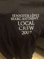 Jennifer Lopez JLO Marc Anthony tour concert 2007 Local Crew shirt adult XL New