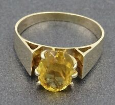 Womens 9ct Gold &  Citrine Natural Gemstone Ring Fine Fashion Jewellery