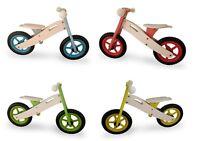 Kids Wooden Balance Running Bike First Training Cycle Boys Girls No Pedal 4 Col