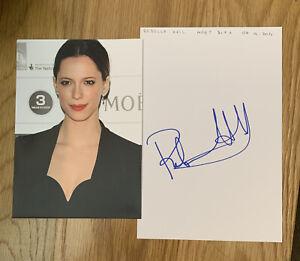 Rebecca Hall Signed Sheet 210mm x 140mm The Prestige The Awakening Iron Man 3