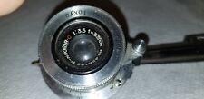 Nikon 3.5cm f/3.5 W-Nikkor.C lens, Nippon Kogaku Tokyo in Leica M39