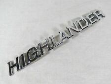 TOYOTA HIGHLANDER EMBLEM 01-07 REAR LIFTGATE CHROME BADGE sign symbol logo name