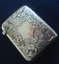 Vittoriano Argento Floreale Foglia Art Nouveau Vesta/corrispondenza sicuri H/M 1899 Samuel Levi