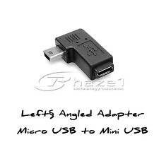 Micro USB to Mini USB 90 Degree Angled Adapter Right