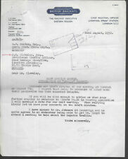 British Railways Letters 1952 East Anglian Survey Integration Smalls Traffic