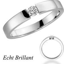 Anneau de Proposition Bague Fiançailles Solitaire à Diamant à Brillant or Blanc