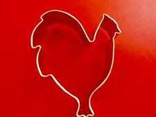 """Ann Clark 4 """" Rooster Cookie Cutter  Tin Plated Steel USA"""