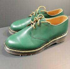 Dr. Martens England MIE Rare 80's vintage Green leather shoes Size UK 6 / 8