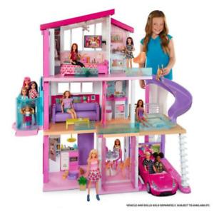 Barbie Barbie Dream House Lights Sounds Amenities Realistic Plug Play Accessorie