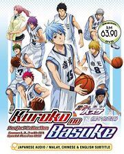 DVD Kuroko No Basuke Complete Season 1+2+3+ OVA+ Special Basket Ball Anime Box