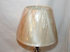 "New Beige Burlap Color Decorative Uno Lamp Shade 7"" Tall"