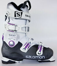 Used $350 Womens Salomon Quest Access R70 W Ski Boots Ladies White Purple