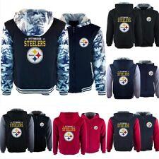 Pittsburgh Steelers Hoodies Thicken Hooded Fleece Sweatshirt Winter Warm Jacket