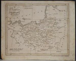 POLAND & LITHUANIA 1812 JOHANN WALCH ANTIQUE ORIGINAL COPPER ENGRAVED MAP