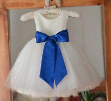 Flower Girl Dress Rose Bud Tulle Pageant Wedding Communion Birthday Graduation