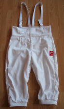 Closeout Cotton unisex 350N Competition Regulation Fencing pants with suspenders
