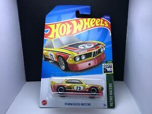 2022 Hot wheels Super Treasure Hunt STH>'73 BMW 3.0 CSL,Int Card Protector Mint