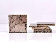 Natural Rock Crystal Smoky Quartz Coasters Set of 6 Home Table Decoration