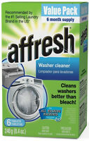 Affresh Washer Cleaner Tablet for Residue/Odor/Mildew 6 PAK W10135699 W10501250
