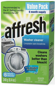 Affresh Washer Cleaner Tablet for Residue/Odor/Mildew 6 PAK W10135699 W10501250