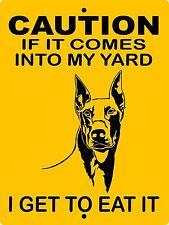 """Doberman Pinscher Dog Sign, 9""""x12"""" Aluminum Sign Guard Dog Warning H2652Dp1"""