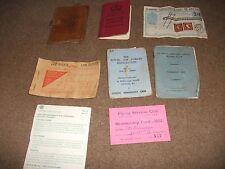 JOB LOT OF  VINTAGE OLD RAF MEMBERSHIP - 1974  CAR LICENCE 1950s RATION BOOK etc