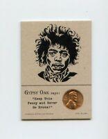 JIMI HENDRIX Musician 1968 Penny Insert NEVER GO BROKE Trade Card RARE