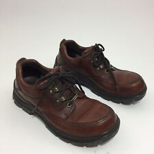 Clarks Active Air Mens Size 10 Waterproof Brown Leather Low Cut Lace Shoe Boots