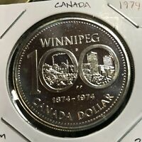 CANADA 1974  SILVER DOLLAR  WINNIPEG BRILLIANT UNCIRCULATED CROWN