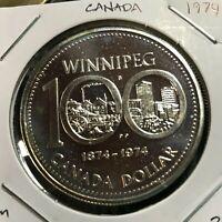CANADA 1974  SILVER DOLLAR  WINNIPEG BRILLIANT UNCIRCULATED CROWN