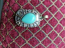 VINTAGE MEXICAN  SILVER ON COPPER PENDANT
